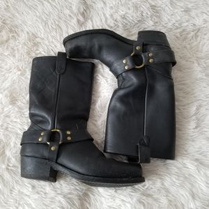 Western Leather Boots,Made in Canada, Sz.9